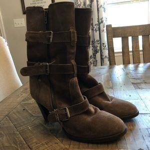 Jcrew Buckle Suede Boots Size 7